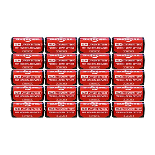 SureFire SF12-BB 123A CR123 3-Volt Lithium Batteries - 20 Pack