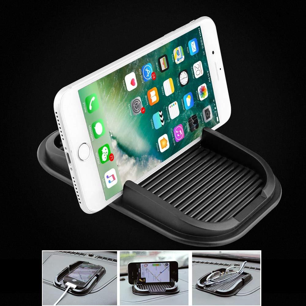Mobile Phone GPS Holder Car Dashboard Black Anti Non Slip Mat Pad 15.5*10cm 02