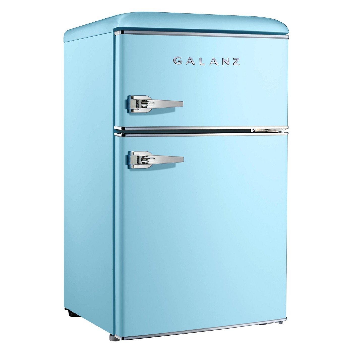 Amazon.com: Galanz 3.1 cu ft Light Blue Retro Mini Fridge: Appliances
