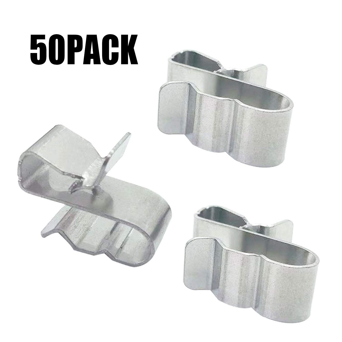 DaNaRaa 20mm Stainless Steel Sunrunner Cable Clips Trailer Frame Wire Clips/ 50 Pieces