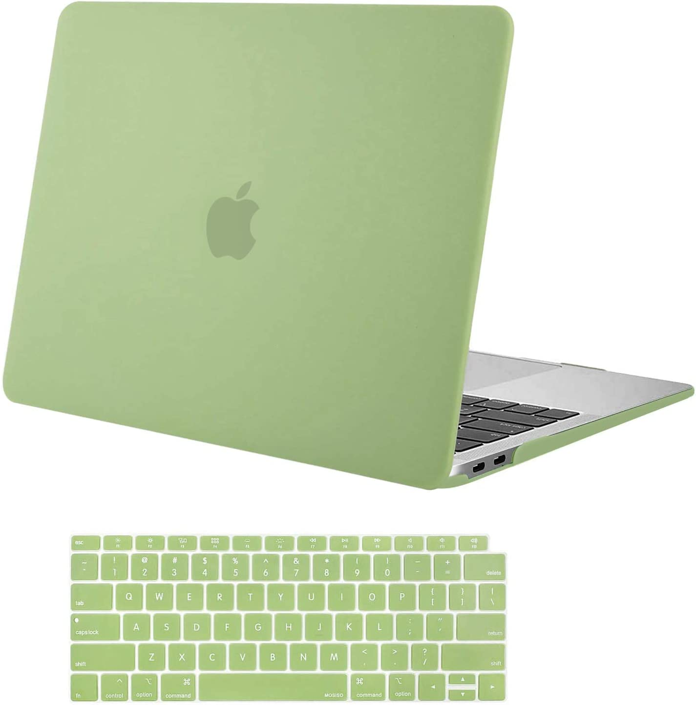 MOSISO MacBook Air 13 inch Case 2020 2019 2018 Release A2179 A1932 with Retina Display, Plastic Hard Shell Case & Keyboard Cover Only Compatible with MacBook Air 13 with Touch ID, Avocado Green