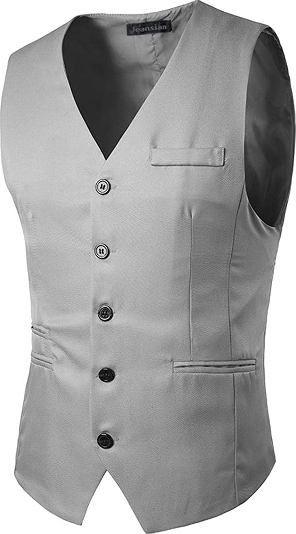 jeansian Mens Fashion Single Breasted Business Jacket Suit Vests 9599