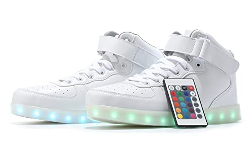 MaiDun Remote Controlled High Top LED Light Up Sneakers for Womens Mens  Codenames f9021a015