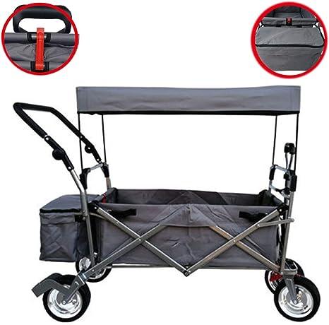 Carro de Mano Plegable Carretilla para jardín, Carro de Carretilla Plegable portátil para Festival Camping Wagon: Amazon.es: Deportes y aire libre