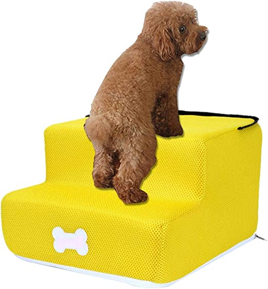rosemaryrose Rampa para Perros- Escaleras para Perros con Guantes para Gatos,Escalera De Cama De 2 Pasos para Pequeño Animales Cachorro,hasta 50 Libras: Amazon.es: Hogar