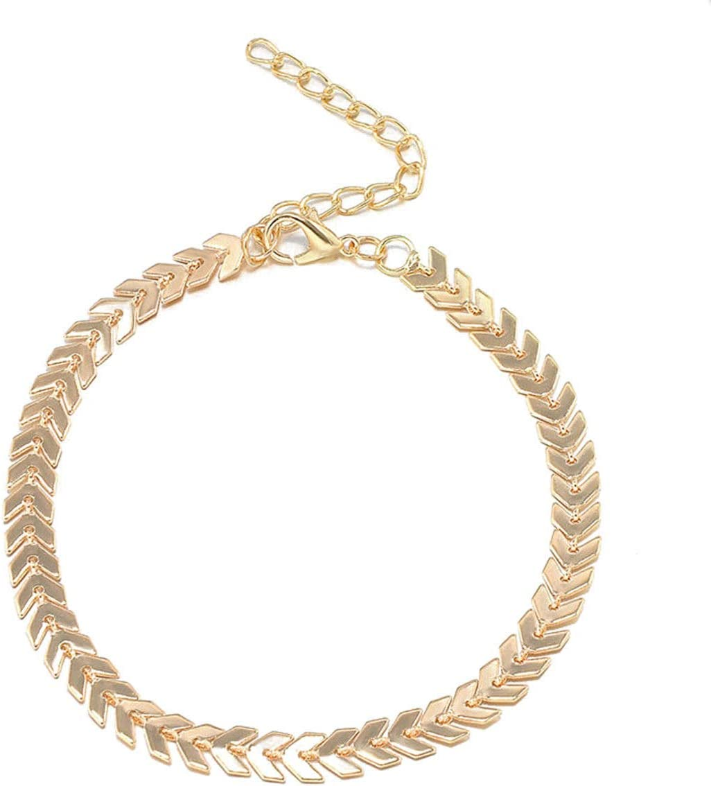 ERAWAN Women Summer Foot Jewelry Anklet Ankle Bracelet Chain Barefoot Sandal Beach EW sakcharn (Gold)