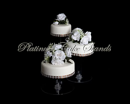 Amazon Com 3 Tier Cascade Wedding Cake Stand Xl Style R304