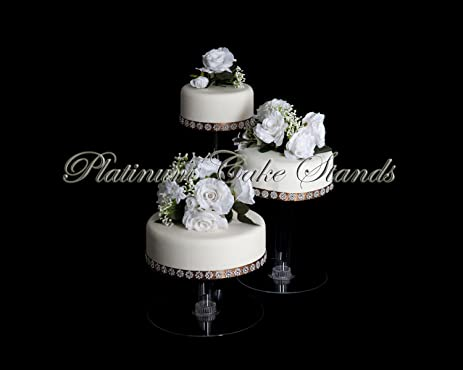 Amazon 3 tier cascade wedding cake stand xl style r304 cake 3 tier cascade wedding cake stand xl style r304 junglespirit Image collections