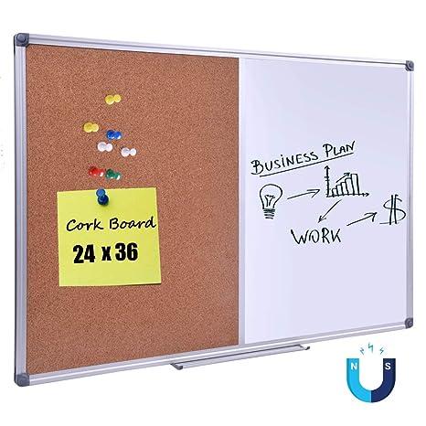 amazon com 36 x 24 inch cork dry erase combo board magnetic
