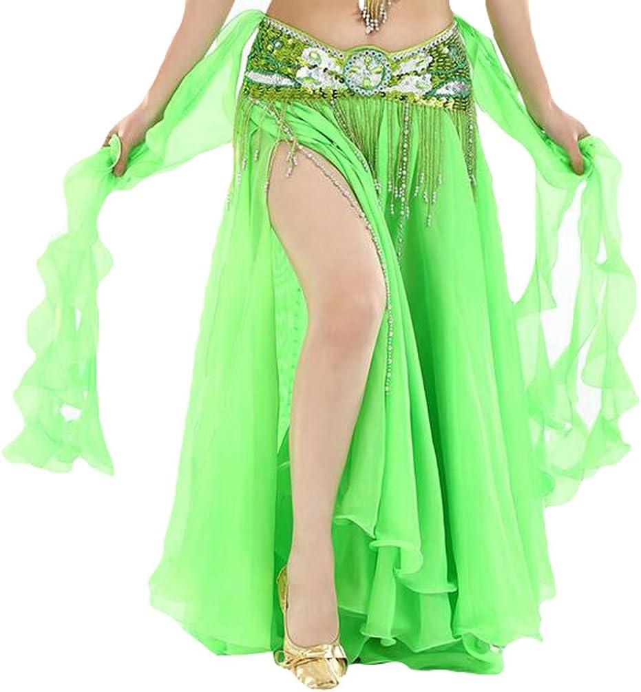 YuanDian Mujer Profesional Color Sólido Gasa Danza Del Vientre ...