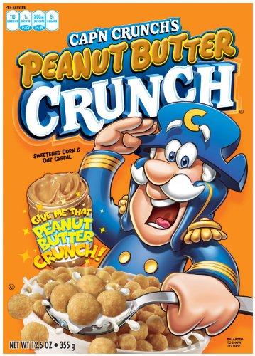 Cap'n Crunch Peanut Butter Crunch Breakfast Cereal, 12.5 Ounce Box