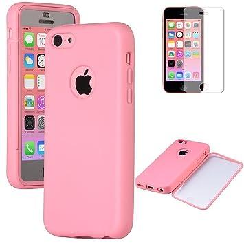 Carcasa iPhone 5c - ULAK Rosa Voltear del gel TPU ...