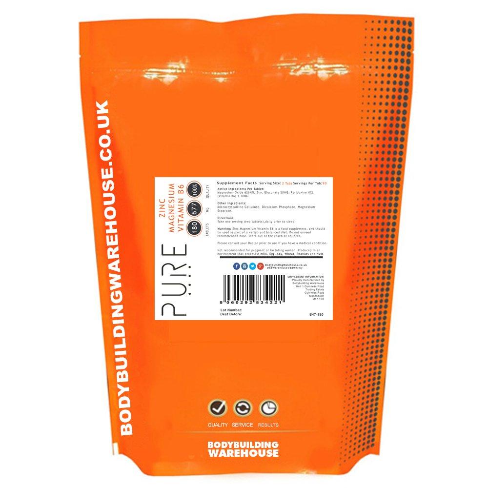 Zinc, Magnesio y Vitamina B6 Pura - 180 Tabletas: Amazon.es: Salud y cuidado personal