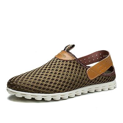 b41daf003 Summer hollow mens shoes sandals Crocs Korean version of the baotou beach  shoes Breathable casual shoes-C Foot length 24.8CM(9.8Inch)  Amazon.co.uk   Shoes   ...