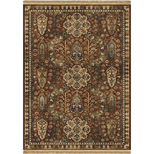 Bombay Collection Rug - Orian Rugs Voyage Bombay Tribal Area Rug with Fringe, 5'3