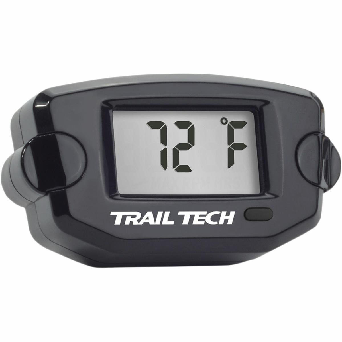Trail Tech Panel Mount Universal Temperature Meter w/ Spark Plug Sensor for Air Cooled Engines - 10mm - Black 732ET1