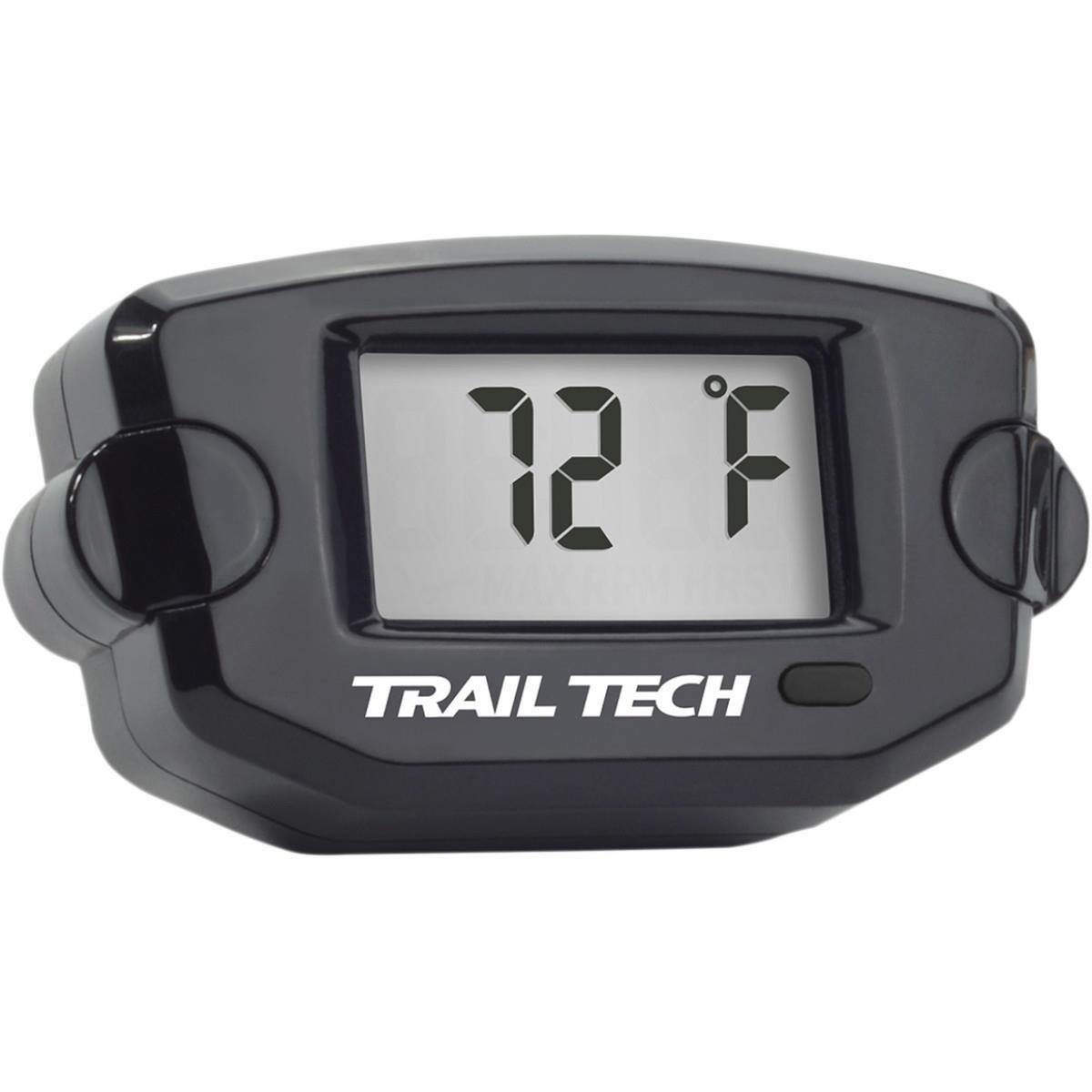 Trail Tech Panel Mount Universal Temperature Meter w/ Spark Plug Sensor for Air Cooled Engines - 14mm - Black 732ET3