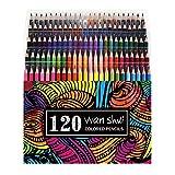 120 Colored Pencils - Premium Soft Core 120 Unique Colors No Duplicates Color