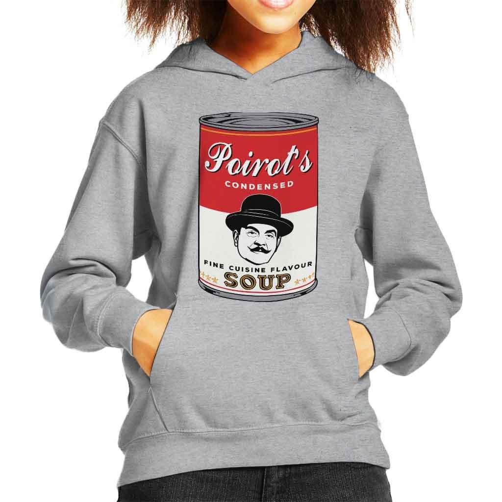Coto7 Campbells Hercule Poirot Fine Cuisine Flavour Soup Kid's Hooded Sweatshirt