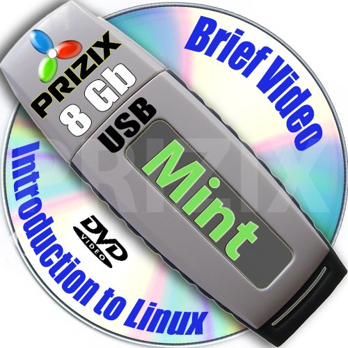 Mint Cinnamon 18 on 8gb USB Flash and Complete 3-disks DVD Installation and Reference Set, 32 and 64-bit by PRIZIX
