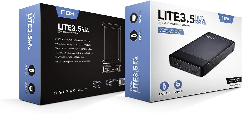 Nox Lite 3.5 - NXLITEHDD35 - Caja Externa para Disco Duro SATA ...