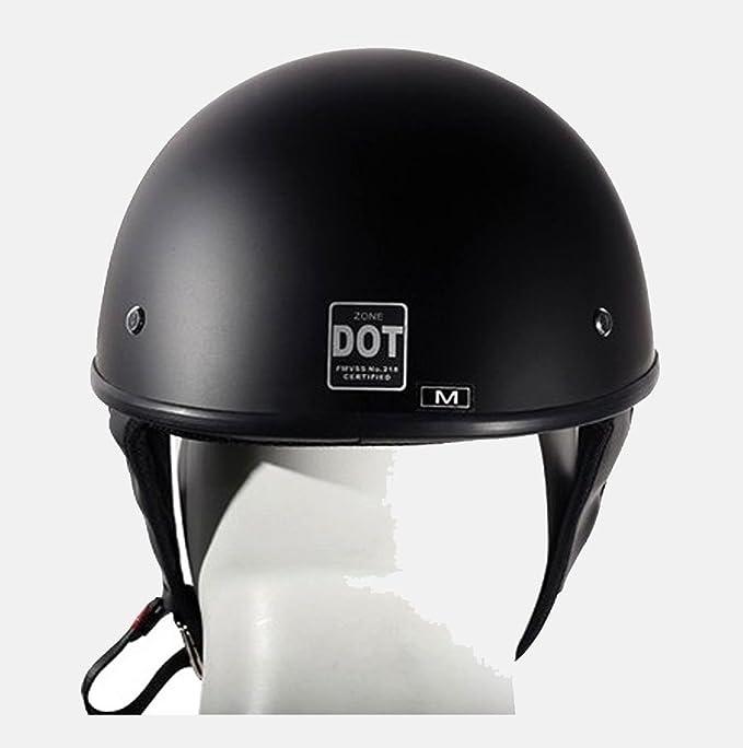 Motocicleta Moto Dot Aprobado soporte de medio casco de equitación Ligero negro nuevo Regular): Amazon.es: Coche y moto