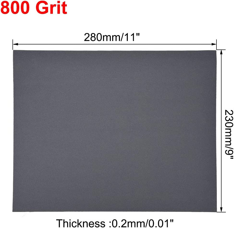 sourcing map 1500 Grits Sanding Sheets 9-inch x 11-inch Wet Dry Silicon Carbide Sandpaper for Wood Furniture Metal Automotive Polishing 10pcs