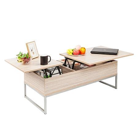 Mesa de café con Parte Superior elevable y Moderna, Mueble Oculto ...