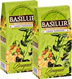 Basilur | DIGESTIVE TEA | Ceylon Green Loose Tea with Peppermint leaves, Amaranth and Safflower | 100g (3.52oz.) Per Box | Pack of 2 Review
