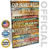 Our Family Rules 12x18 Earth Tones By Marla Rae Decorative Wall Art Decor