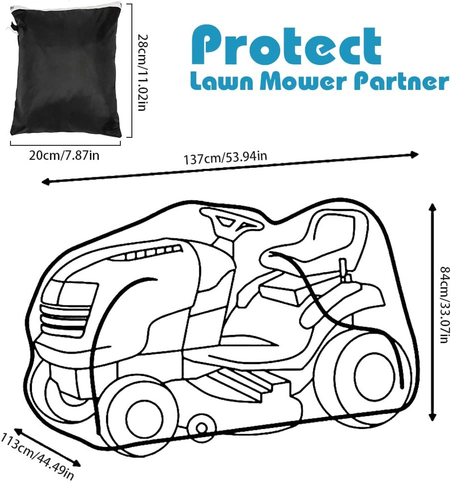 ValueHall Lawn/Mower/Cover Outdoors Lawn Mower Cover Tractor Cover Riding Lawn Mower Cover with Zipper Storage Bag UV Protection V7119
