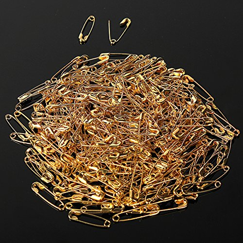 300pcs Small Brass Metal Steel Sewing Craft Notions Safety Pin