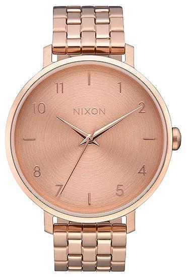Nixon Reloj Analógico para Mujer de Cuarzo con Correa en Acero Inoxidable A1090-897-