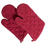 DII 100% Cotton, Terry Oven Mitts 7 x 13