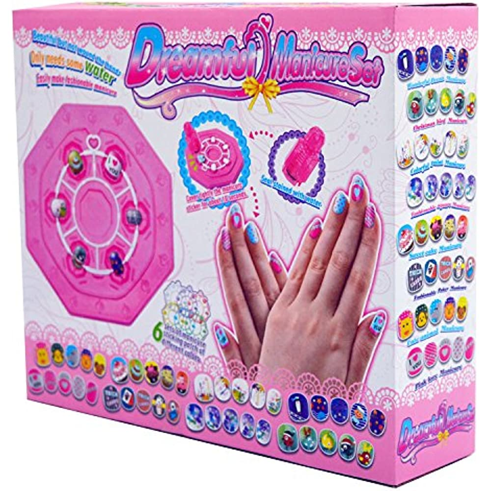 Kids Nail Art Stickers Kit Makeup Set Gifts For Girls Ages 7 8 9 10 11 12 Toys Ebay