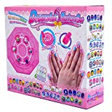 Kids Nail Art Kit Manicure Set Non-Toxic Nail Stickers for Girls Ages 4 Up Birthday Xmas Gift Idea