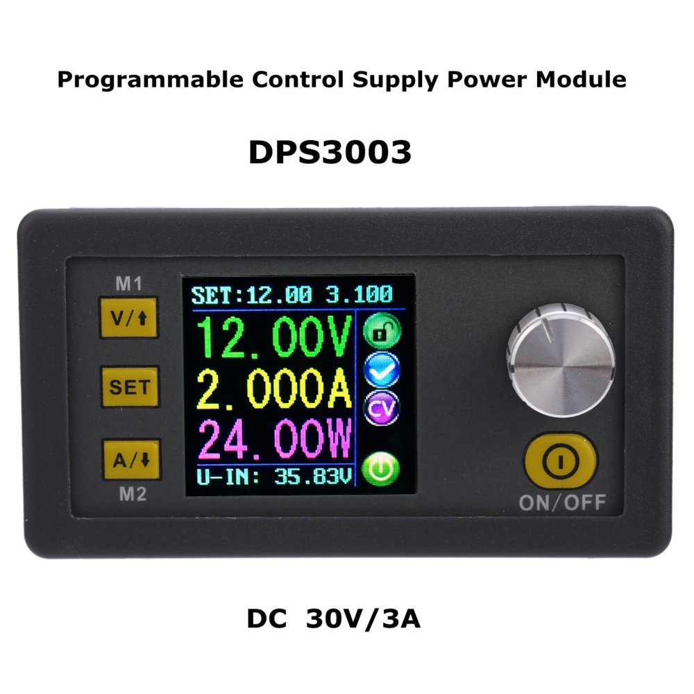 Kkmoon Lcd Power Supply Module Digital Programmable Diagram Ingram 3 30v 3a Adjustable Regulated Dc Constant Voltage Current Step Down 50v 5a Home Audio Theater