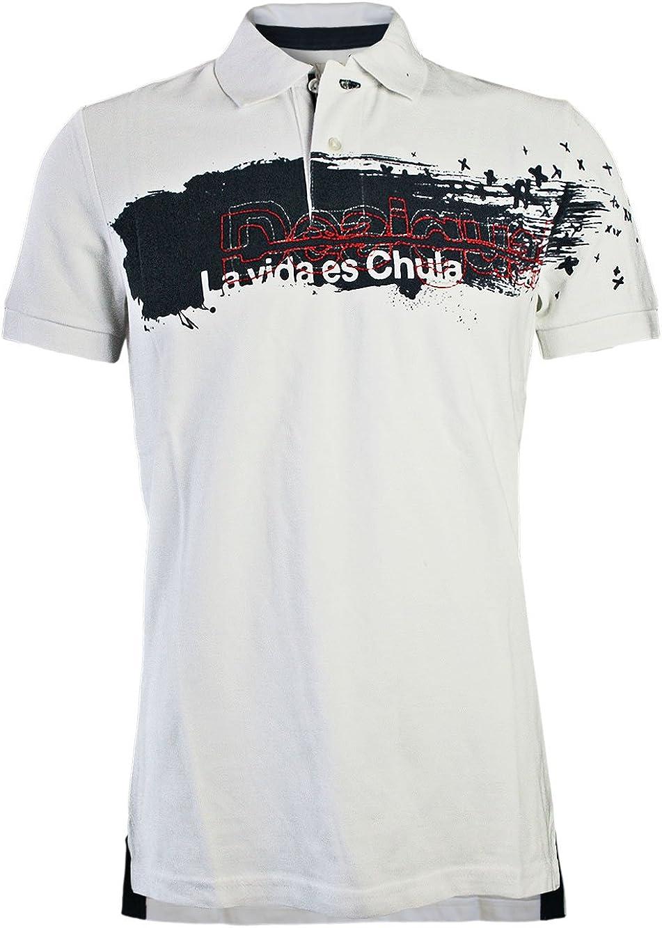 DESIGUAL Hombre Diseñador Polo Shirt Camisetas - XXX POLO -XXXL ...