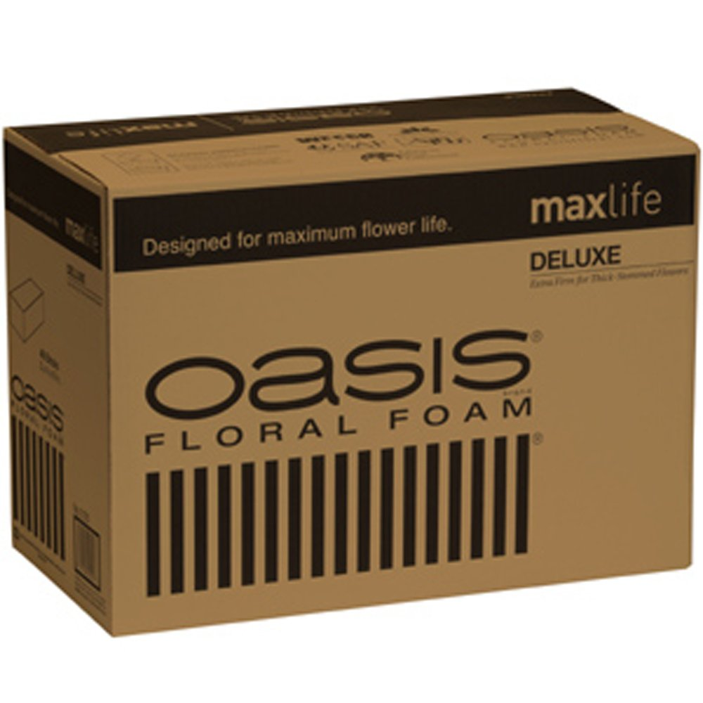 Oasis Deluxe Floral Foam Maxlife (Case of 36 Bricks) Oasis® Floral Products BURTON-012736