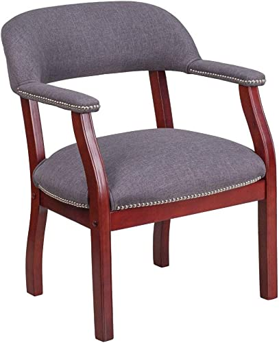 Flash Furniture Gray Fabric Luxurious Conference Chair with Accent Nail Trim
