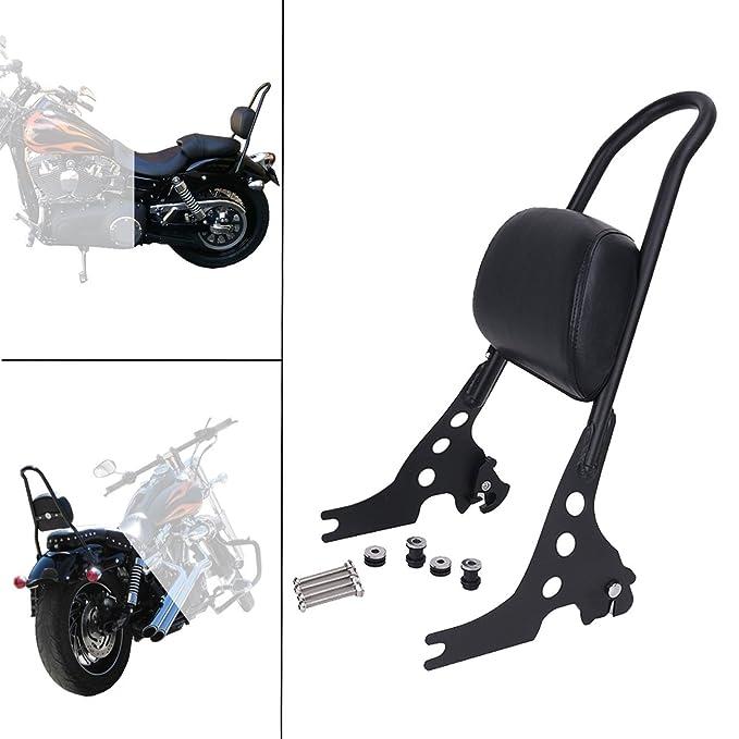 Ocamo Burly Short Sissy Bar Backrest for Harley 48 Sportster 1200 883 72 04-16 black