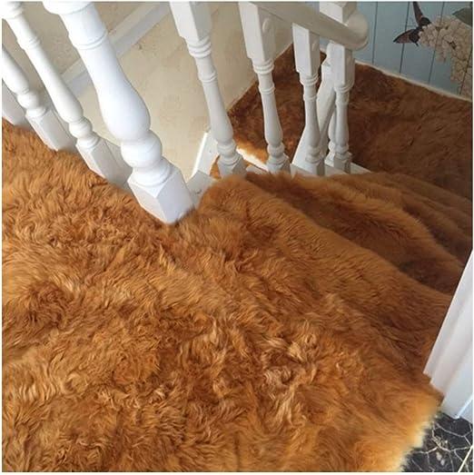 Alfombra para Escalera Semicírculo Largo Pelusa Conjunto de 5 65x24cm Autoadhesivo Almohadillas para escaleras Alfombra/Alfombra para Escalera Antideslizante Antideslizante Protector de Piso Lavable: Amazon.es: Hogar