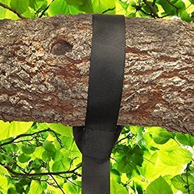 EASY HANG TREE SWING STRAP (4FT) HOLDS 1000 lbs. - Simple Instructions Included - Extra Strong Carabiner Hook - Perfect For Tire and Disc Swings - 100% Waterproof - Great for your Kids or Grandkids