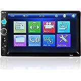 Radio de coche, receptor multimedia, de pantalla táctil de 17,80 cm (7pulgadas), incorporado al salpicadero del coche, de doble DIN, FM/MP5/MP3/USB/AUX