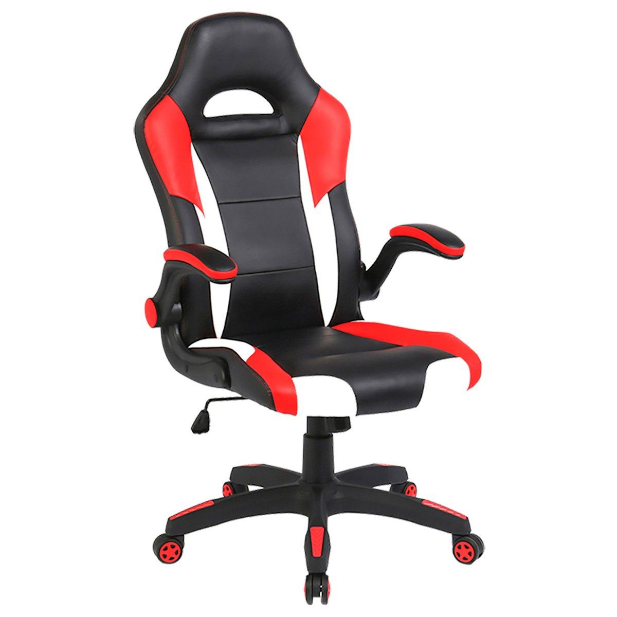 Yamasoro ergonomico PU computer Gaming Racing alta della sedia da ufficio con braccioli ribaltabili girevole grande e alto Haimanmile