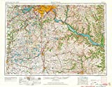 YellowMaps Saint Paul MN topo map, 1:250000 Scale, 1 X 2 Degree, Historical, 1953, Updated 1964, 27.23 x 21.53 in