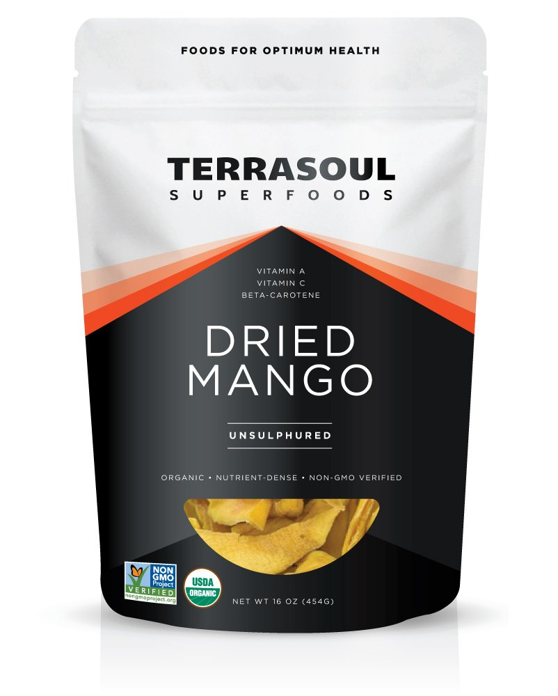 Terrasoul Superfoods Organic Mango Slices, 16 Ounce