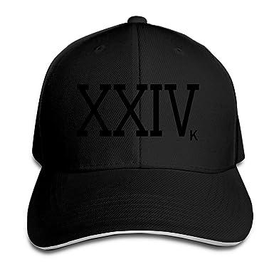 Bruno Mars 24k Magic XXIVk Logo Peaked Hat Baseball Cap - Black -   Amazon.co.uk  Clothing fa7aff24d08