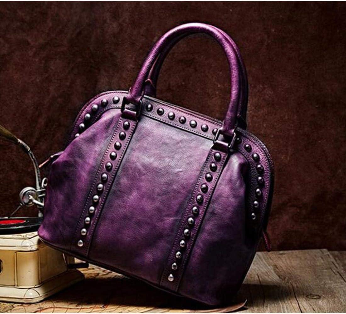 HOUYAZHAN Sac à bandoulière en Cuir pour Femme Sac à bandoulière pour Femme (Couleur : Violet) Violet