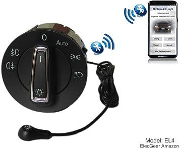 Leon 3 5F auto commutateur Seat Ateca Coming Leaving Home Relais Octavia 3 EL4 Bluetooth App Commande Phare Feux Brouillard Lumi/ère Interrupteur de Contr/ôle Unit/é Superb B8 Toledo IV